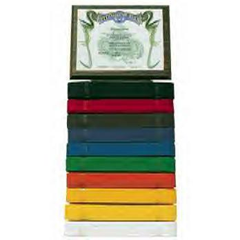 KD Elite Ten Level Belt Display with Certificate Plaque